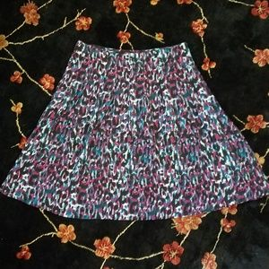 Ellen Tracy colorful a-line skirt